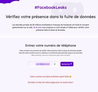 Facebook Leaks : voici les deux outils pour vérifier si votre numéro est dans la nature