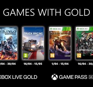 Xbox Live Gold : les jeux offerts en avril