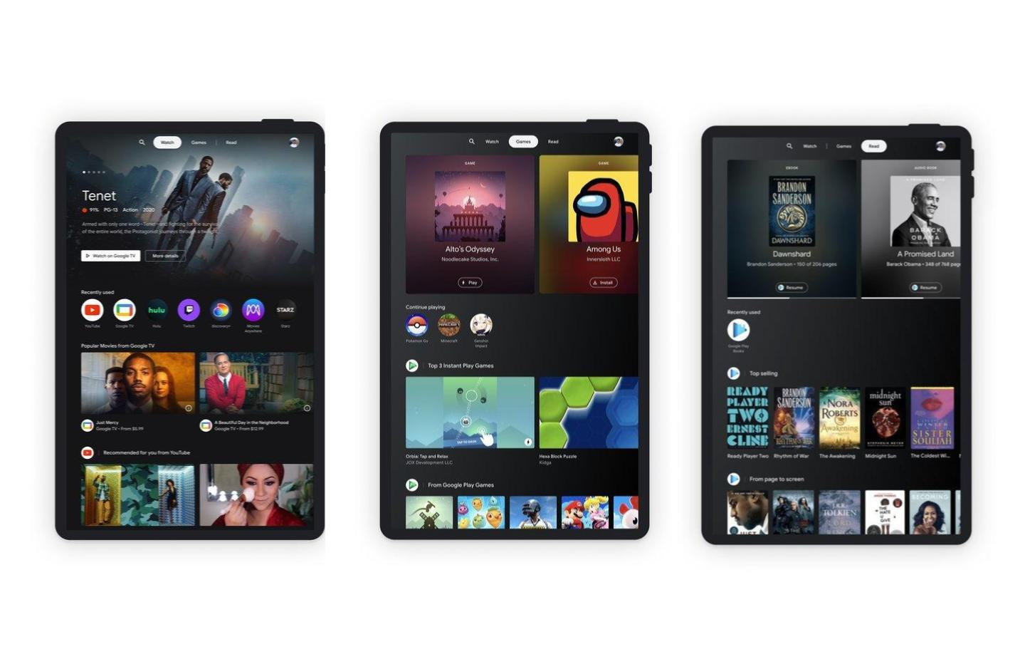 Google tente un come-back d'Android sur le marché des tablettes avec Entertainment Space