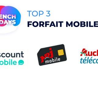 Les forfaits mobile sont aussi à l'honneur pour les French Days : voici le TOP 3