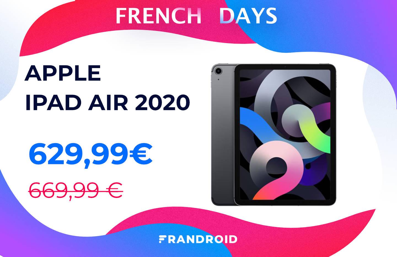 iPad Air 2020 : les French Days font aussi baisser le prix de la tablette d'Apple