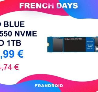 Le SSD NMVe 1 To de Western Digital est une excellent deal des French Days