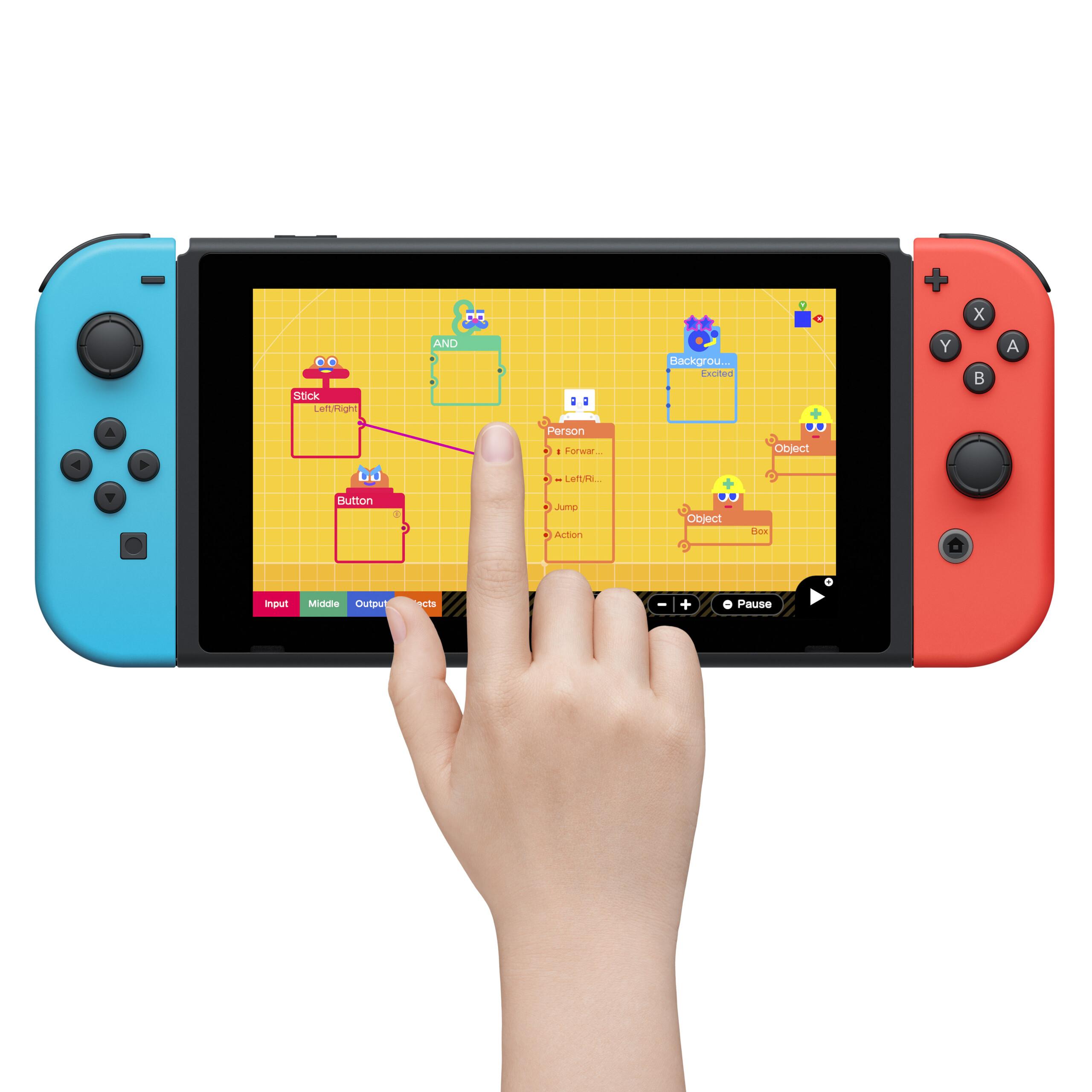 Avec L'Atelier du jeu vidéo, Nintendo veut faire de vous des créateurs de jeux