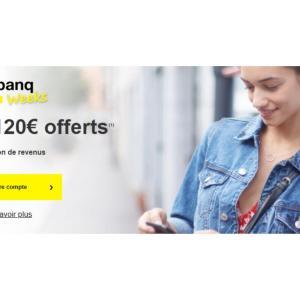 Monabanq : la banque en ligne offre jusqu'à 120 € à ses nouveaux clients