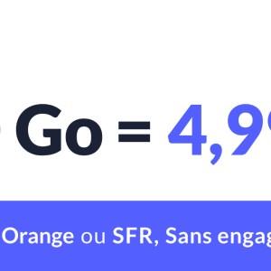 À moins de 5 euros sur Orange ou SFR, ce forfait mobile est l'une des meilleures affaires du moment