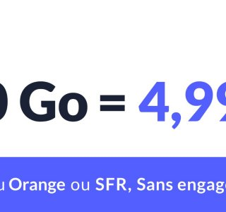 Pour moins de 5 euros, ce forfait propose 20 Go (voire plus) sur le réseau d'Orange ou de SFR