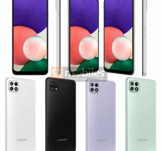 Galaxy A22 5G : de nouvelles images permettent de découvrir son design avant l'annonce