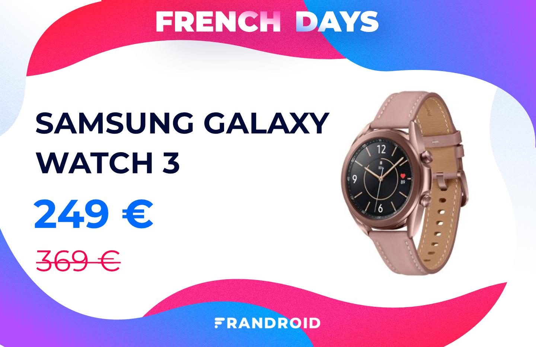La Samsung Galaxy Watch 3 est à prix très réduit pour les French Days