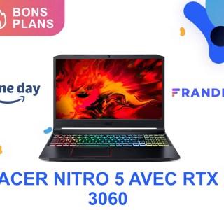 Ce PC portable équipé d'une RTX 3060 frôle les 1 000 € pour le Prime Day