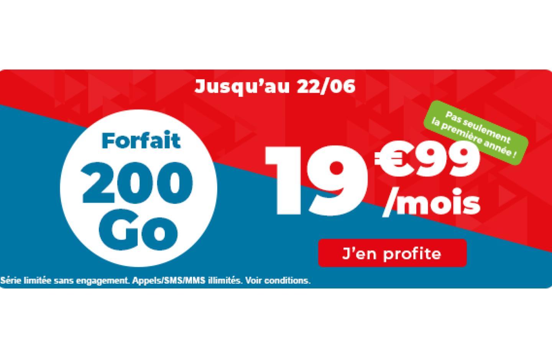 Voilà le forfait mobile parfait pour une box 4G : 200 Go à 20 €/mois