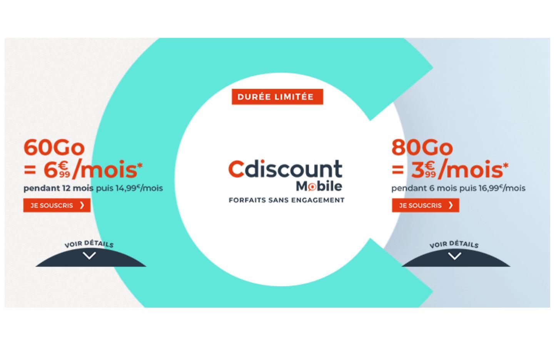 Cdiscount mobile propose un nouveau forfait 80 Go à seulement 3,99 €/mois