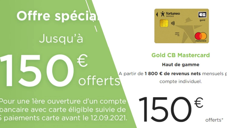 Fortuneo Banque offre jusqu'à 150 € de prime pour ses nouveaux clients