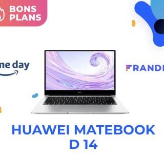 Huawei MateBook D 14 : un ultrabook i7 10e gen à -30% pour le Prime Day
