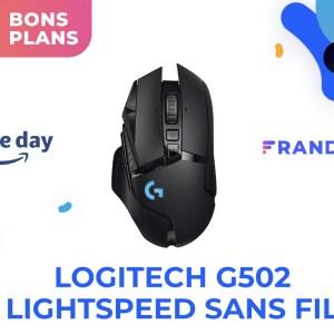 La souris sans fil Logitech Lightspeed G502 coûte deux fois moins cher pendant le Prime Day