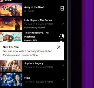 Netflix: lire hors-ligne des téléchargements incomplets sera bientôt possible