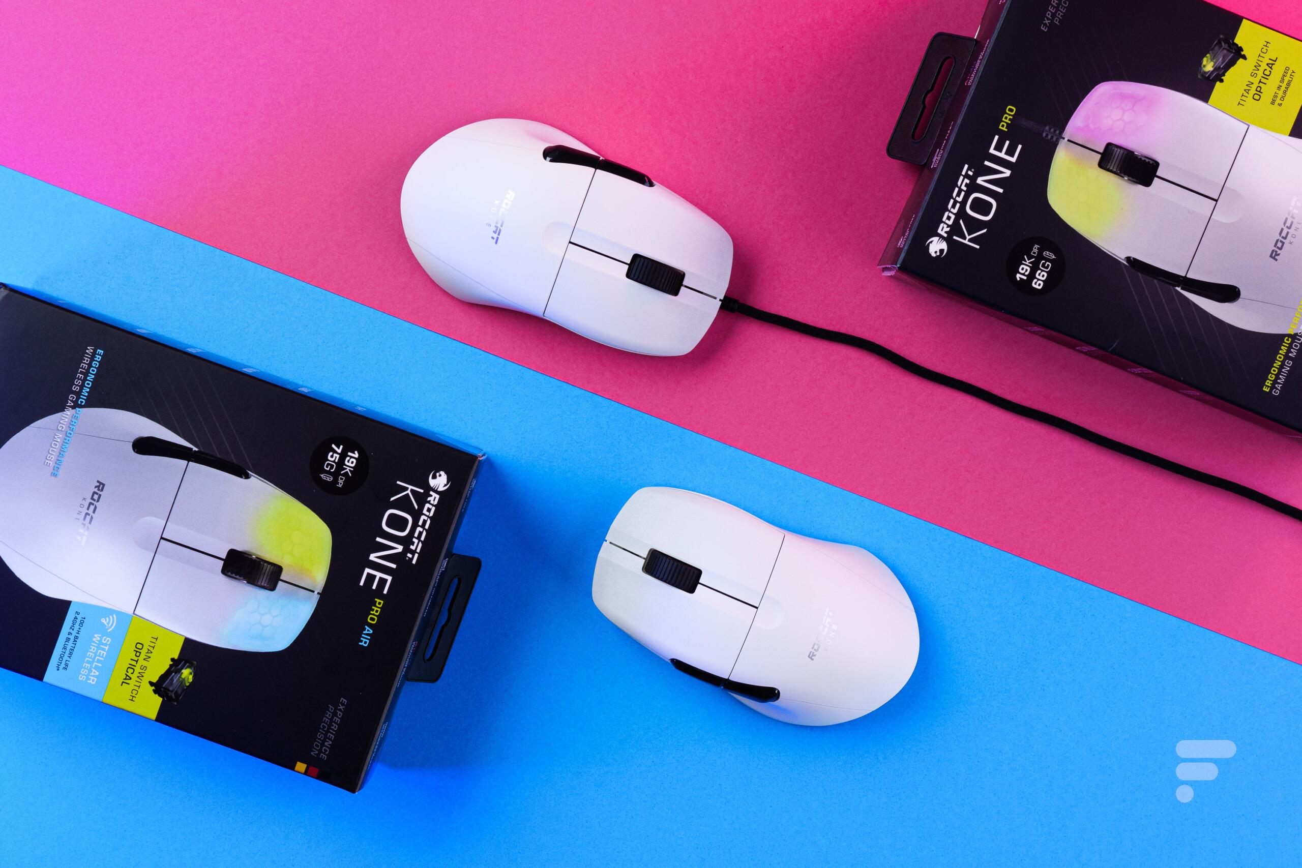 Test Roccat Kone Pro et Kone Pro Air : le choix de la liberté ou de la légèreté