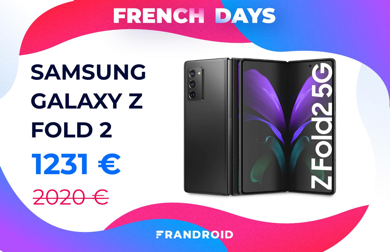 Le Samsung Galaxy Z Fold 2 est à prix cassé pour les French Days (-39 %)