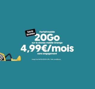 Sosh relance ses forfaits en série limitée, dont un de 20 Go à 4,99 €/mois
