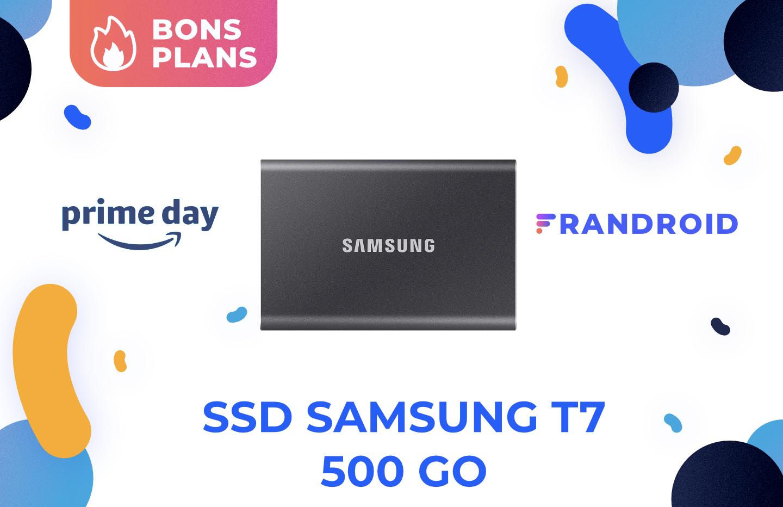 Amazon demande seulement 65 euros pour l'excellent SSD Samsung T7 de 500 Go