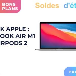Le prix du pack MacBook Air M1 + AirPods 2 a encore baissé pour les soldes