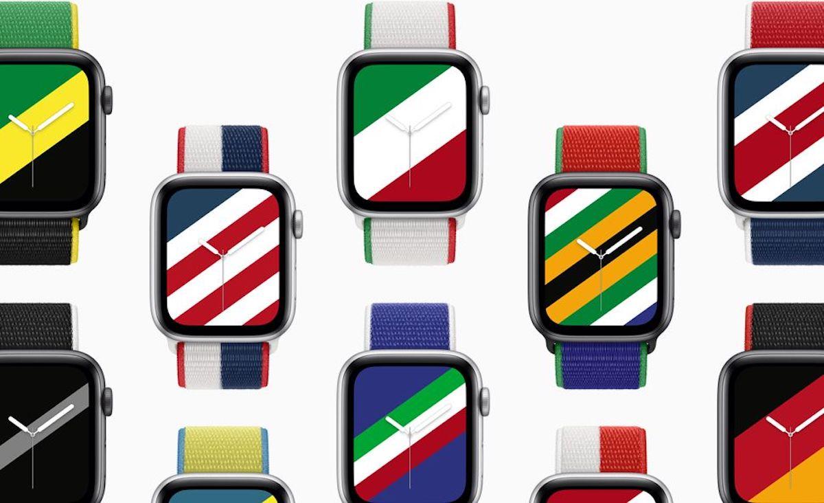 Pour les JO de Tokyo, l'Apple Watch met le drapeau au poignet des supporters