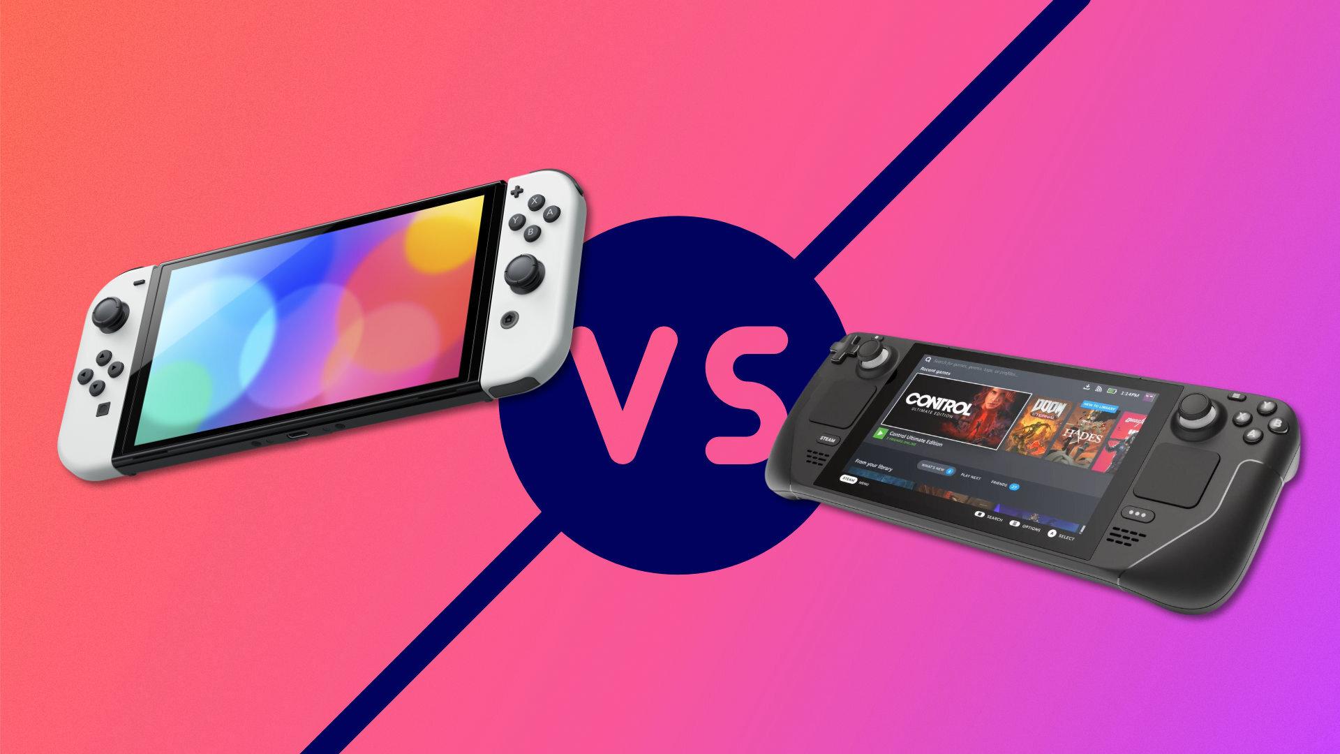 Nintendo Switch OLED vs Steam Deck : écran, puissance, jeux, prix, on fait le point sur les différences