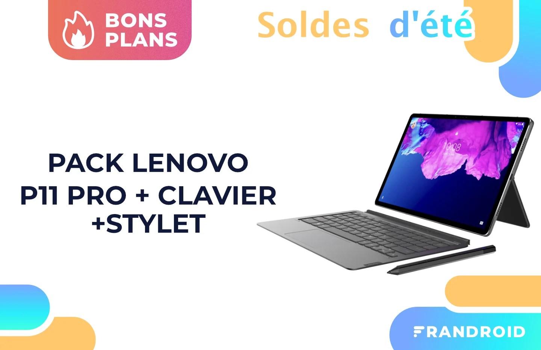 Le pack Lenovo Tab P11 Pro + clavier + stylet est 100 € moins cher pour les soldes