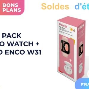 Soldes : 80 € de réduction pour ce pack Oppo Watch + écouteurs sans fil