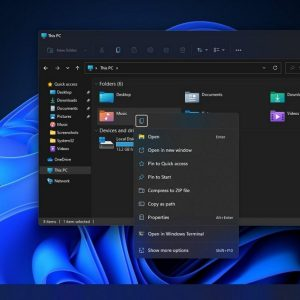 Windows 11 va améliorer les menus contextuels du clic droit