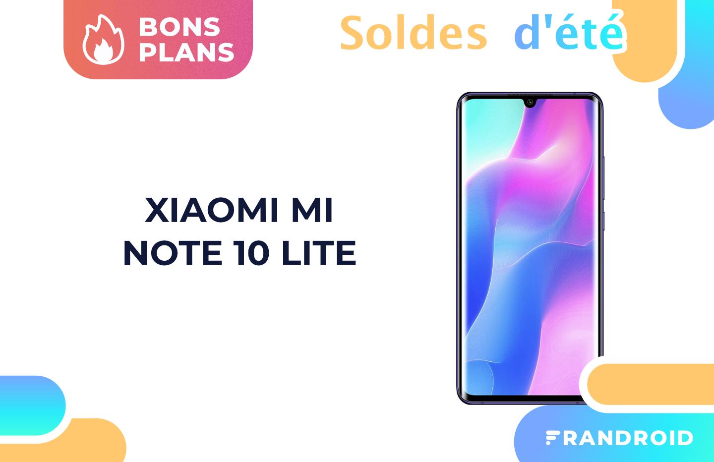 Les soldes font baisser le prix du Xiaomi Mi Note 10 Lite sur Amazon