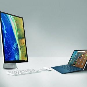 HP annonce deux produits sous Chrome OS, dont un intrigant iMac avec un écran rotatif