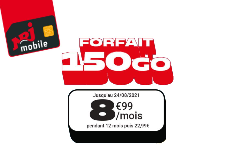 Ce forfait mobile propose 150 Go de 4G pour moins de 9 €/mois pendant un an
