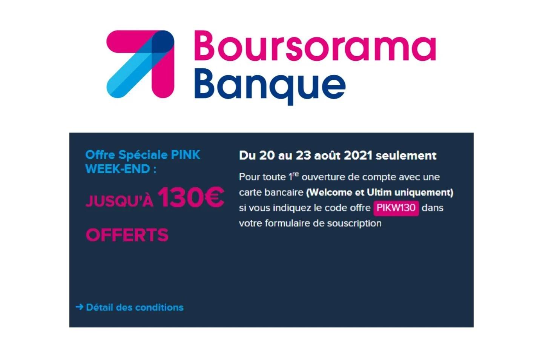 Boursorama Banque : il suffit d'ouvrir un compte pour recevoir 130 € offerts
