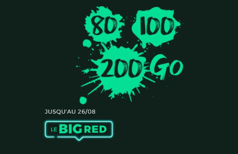 Les nouveaux forfaits RED sont enfin intéressants : à partir de 80 Go pour 10 €/mois