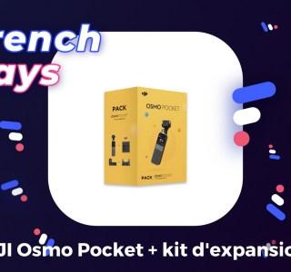 DJI Osmo Pocket : le pack caméra + accessoires coûte 120 € de moins pour les French Days