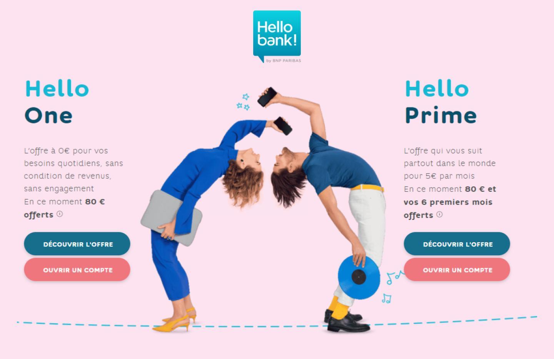 Hello Bank lance une nouvelle offre de bienvenue : 80 € et 6 mois offerts