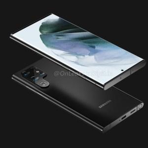 Samsung Galaxy S22 Ultra : il a tout d'un Note selon OnLeaks (rendu 3D)