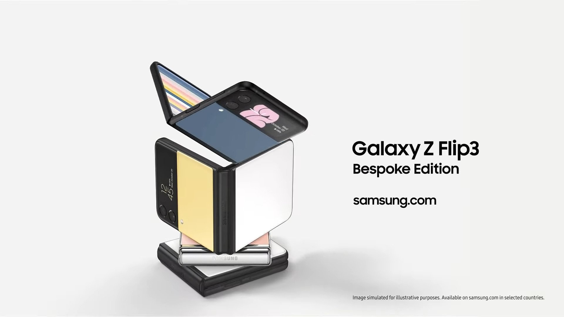 Galaxy Z Flip 3 et Watch 4 : Samsung dévoile des coloris en pagaille