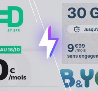 RED vs B&You : qui propose le meilleur forfait 30 Go à 10 €/mois ?