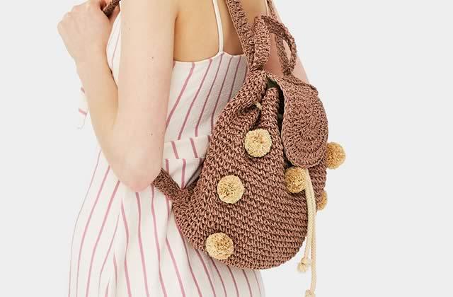 mini sac à dos crochet