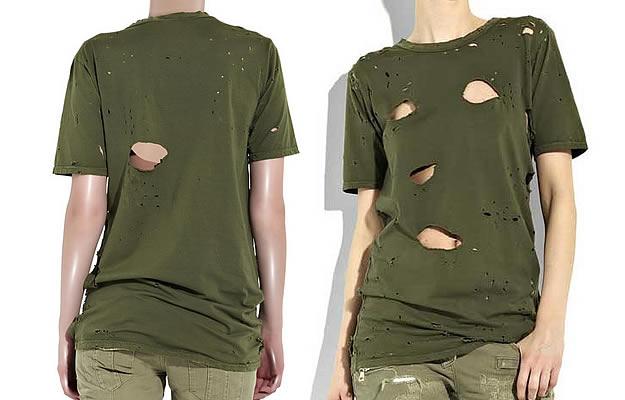 tee shirt balmain trous