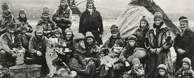 Les Samis de Laponie – Carte postale de Suède
