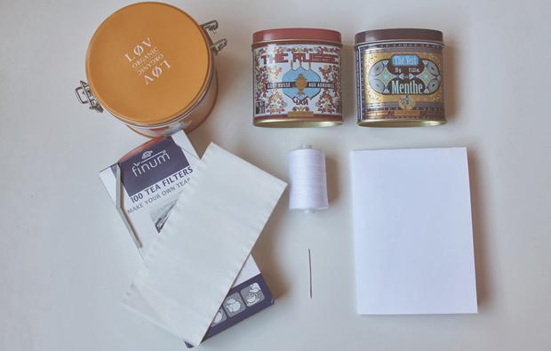 DIY — Des sachets de thé personnalisés
