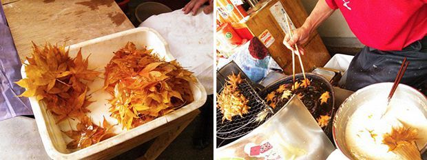 Au Japon on mange des feuilles mortes (et c'est normal)
