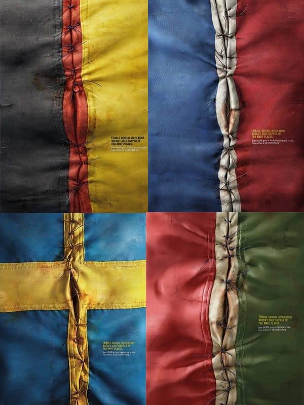drapeaux occidentaux