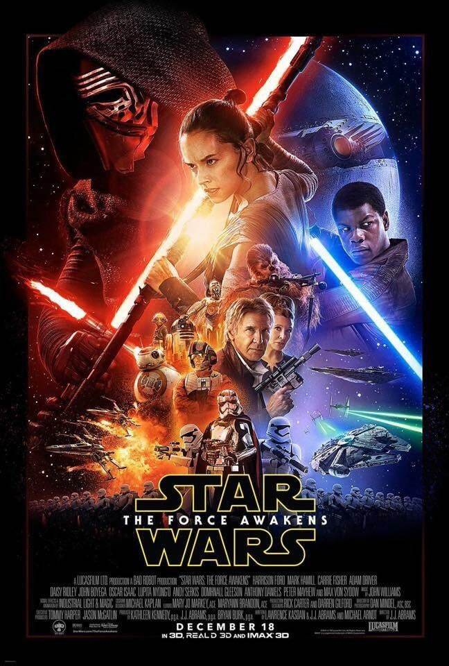 star wars VII the force awakens poster