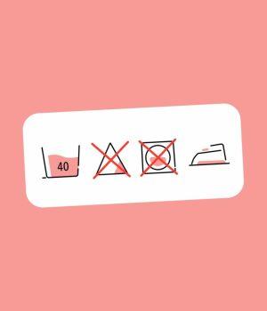 Les symboles d'entretien pour le lavage de vêtements