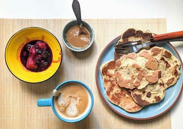 pancakes-banane-recette