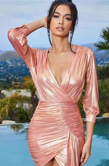 Robe lamée rose hyper glamour, 50£