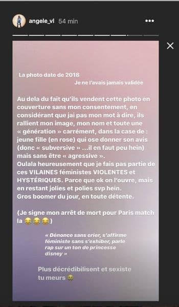 Angèle furieuse contre la couv de «gros boomer » de Paris Match